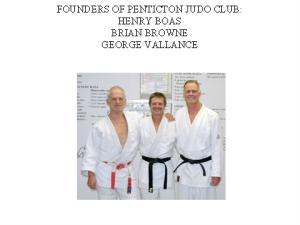 judo- club founders