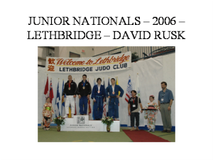 judo- junior nationals